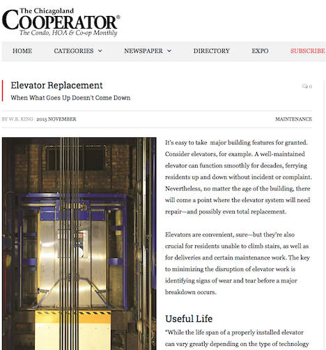 Colley Elevator Co  In The News